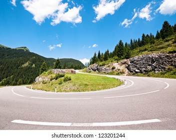 winding road at the european alps - austria