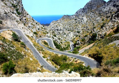 Winding Road in Mallorca, Spain