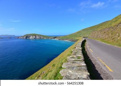 Winding road on the Irish Coast