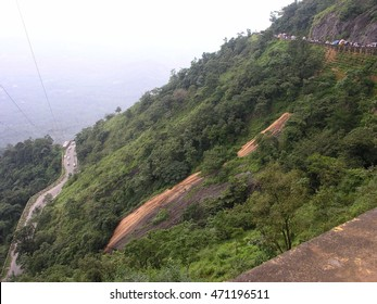 Winding road on the western ghat mountain range in Wayanad district, Kerala (god's own country), India