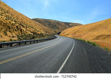 Winding road through the hills