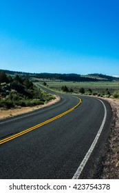 Winding Road through Northern California Countryside