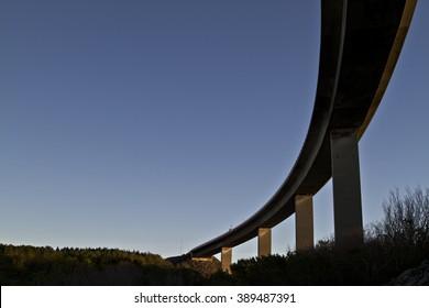 winding rongesundet bru bro bridge in morning sun architecture