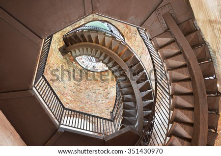Winding Stairs In An Old Tower