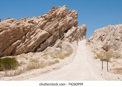 Winding steep mountain pass , south of Cachi, Argentina