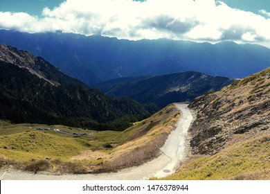 The winding trekking path on the Mount Hehuan (Hehuanshan) that is on the borders of Nantou and Hualien counties within Taroko National Park and is a 3416-metre-high mountain in Central Taiwan.