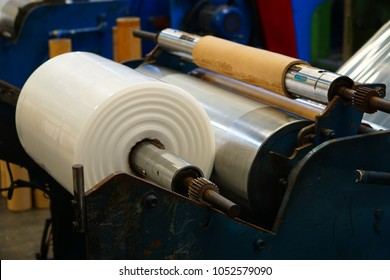 Winding unit of extrusion plastic blown film machine