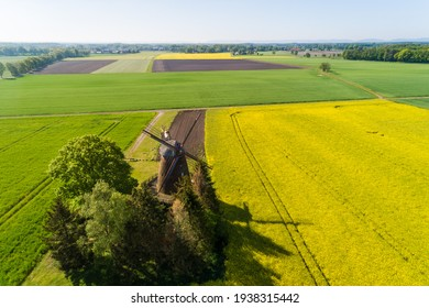 Windmill from the air, Lower Saxony, Germany