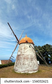 Windmill in azores, san miguel portugal