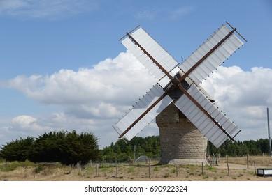 Windmill at Batz-sur-mer, France