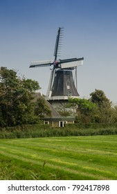 A windmill in the countryside of the Netherlands