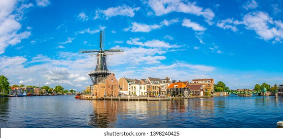 windmill de Adriaan in Haarlem, Netherlands