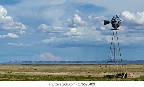 Windmill in the Desert Southwest