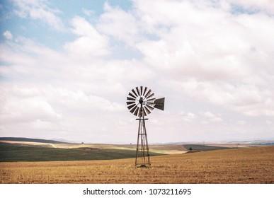 Windmill In A Dry Field