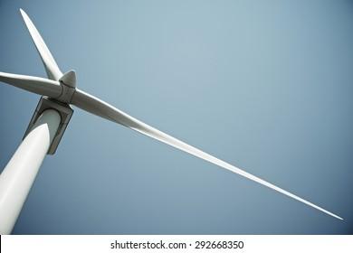 Windmill for electric power production, Burgos Province, Castilla Leon, Spain.