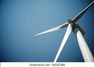 Windmühle für die Stromerzeugung, Provinz Burgos, Castilla Leon, Spanien.