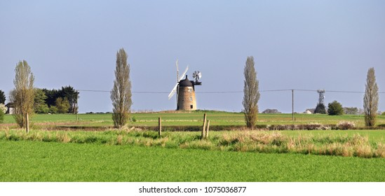 Windmill in an English Rural Landscape