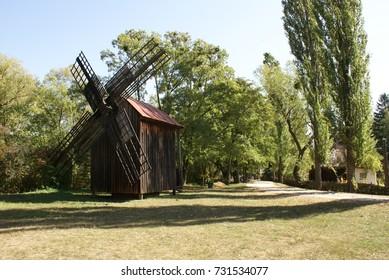 Windmill flour machinery at Pereiaslav-Khmelnytskyi