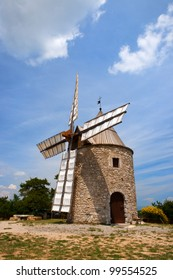 Windmill in the France Provence at the village Montfuron
