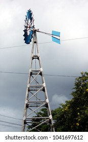 Windmill in the Galapagos Islands