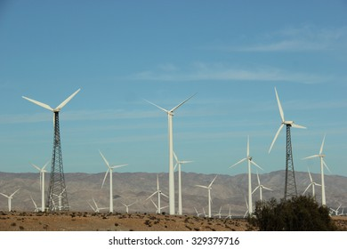 Windmill Generating Electricity for People in Southern California