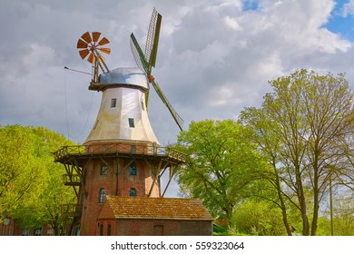 Windmill in Germany under the Cloudy Sky