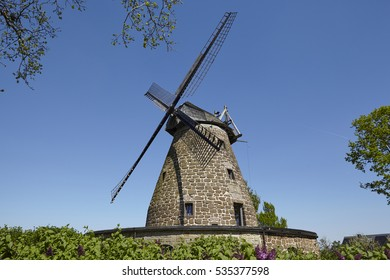 The windmill Hartum (Hille, Germany) is a dutch type of windmill and is part of the Westphalia Mill Street (Westfaelische Muehlenstrasse).