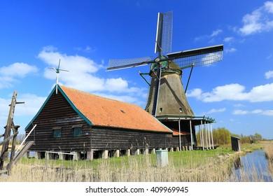 Windmill Het Prinsenhof at Westzaan, The Netherlands