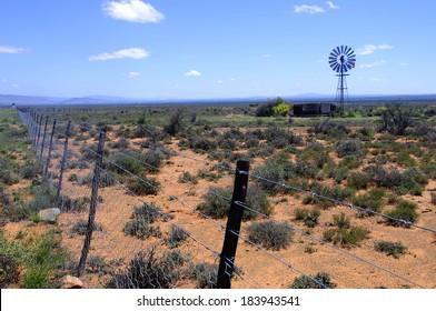Windmill in the Karoo Desert, South Africa