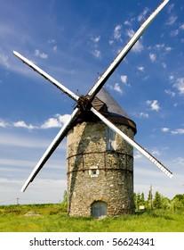 windmill, La Roche, Loire Valley, France