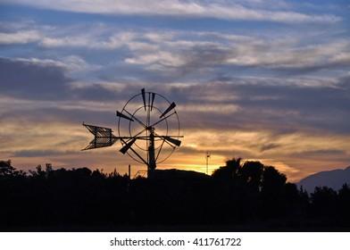 Windmill in Majorca, Spain