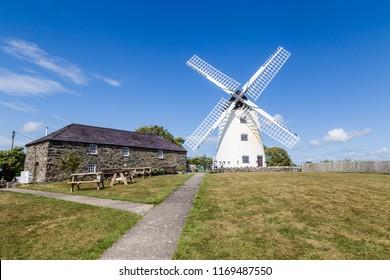 Windmill Melin Llynon, Llanddeusant Holyhead on Anglesey, North Wales uk