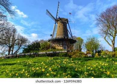 Windmill ('Molen van Piet') in Alkmaar, The Netherlands