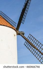Windmill in mota del cuervo castilla spain