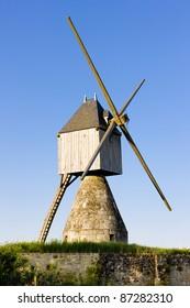 windmill near Montsoreau, Pays-de-la-Loire, France