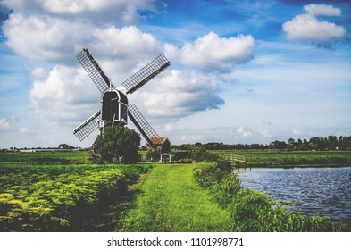 Windmill in Noordwijk, The Netherlands