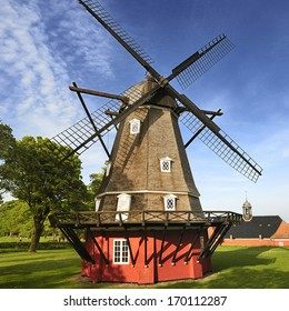 Windmill in old military fortress. Copenhagen - Denmark
