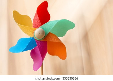 Windmill on a blurred bokeh background.