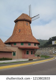 Windmill on city of joinville