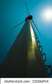 windmill on daylight
