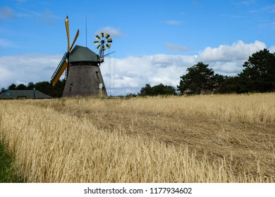Windmill on the island Amrum in the North Sea, Germany