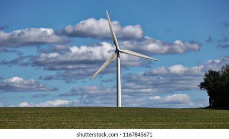 Windmill on land