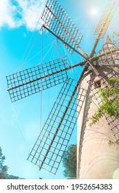 windmill on Mallorca, Palma, Spain