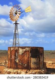 windmill, outback, australia