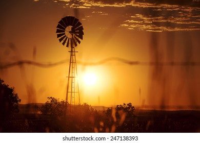 Windmill in the outback of Queensland