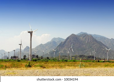 windmill park in kanyakumari, south india