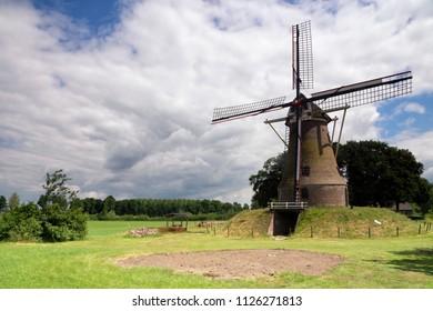 Windmill the Piepermolen near the Dutch village Rekken in the region called Achterhoek