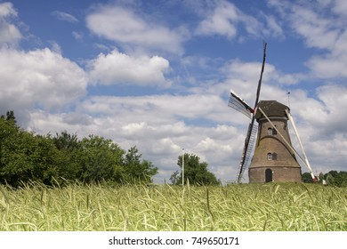 Windmill the Piepermolen near the Dutch village in the region called Achterhoek