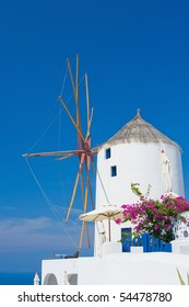 Windmill in Santorini, Greece