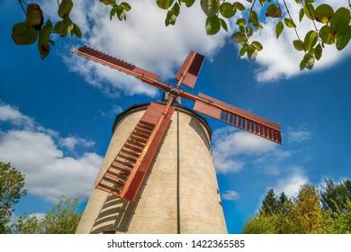 Windmill in Syrau. Syrau is a Village in the Vogtlandkreis district, in Saxony, Germany.